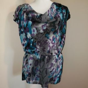 Fashion Bug Top.  SZ Small.  Purple, gray, teal